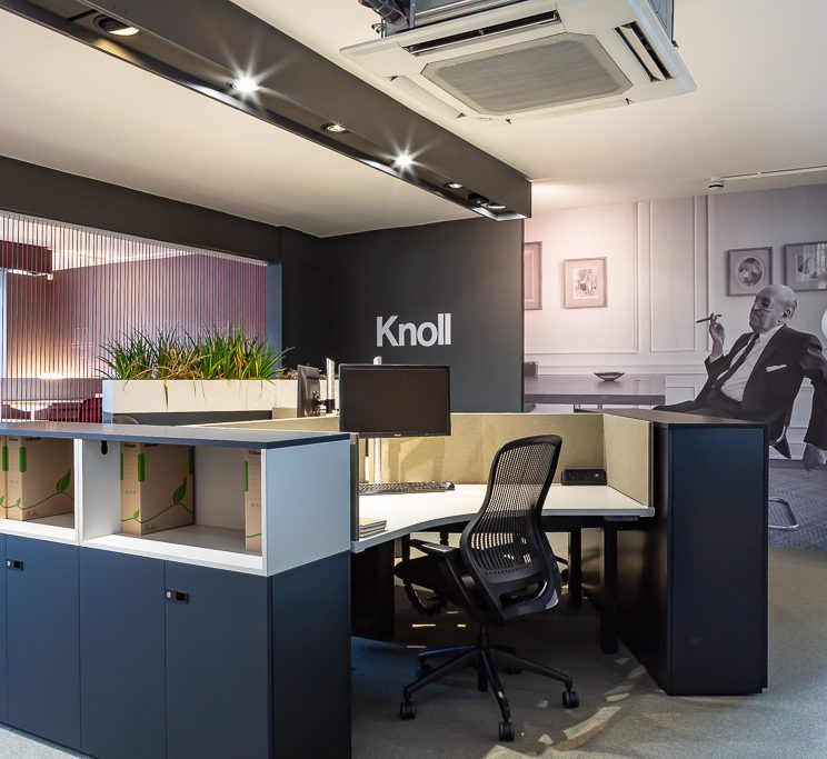 Interior photography of Knoll office showroom in London