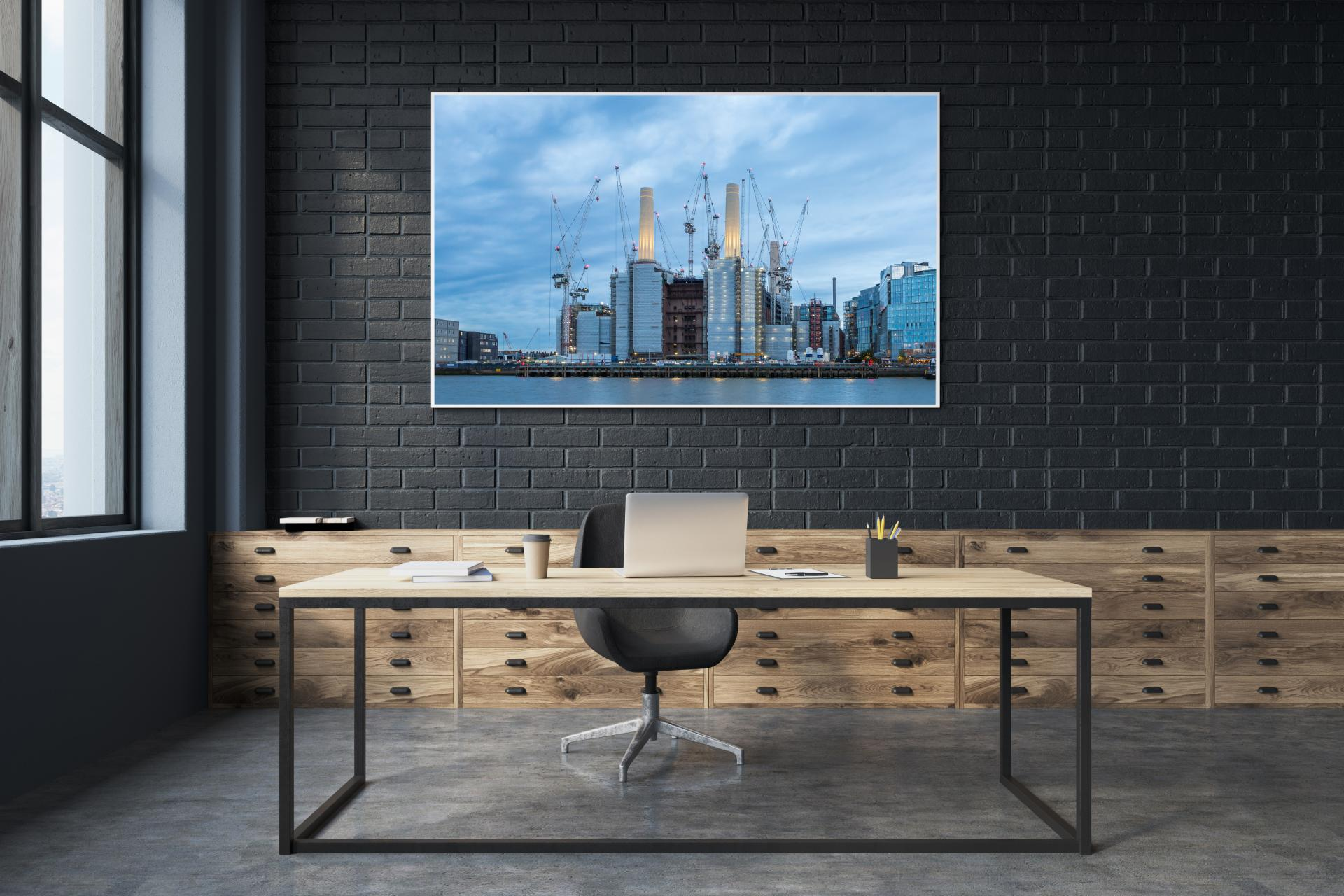 Battersea Power Station taken after sunset during blue hour, Liane Ryan Interior/Architectural Photographer
