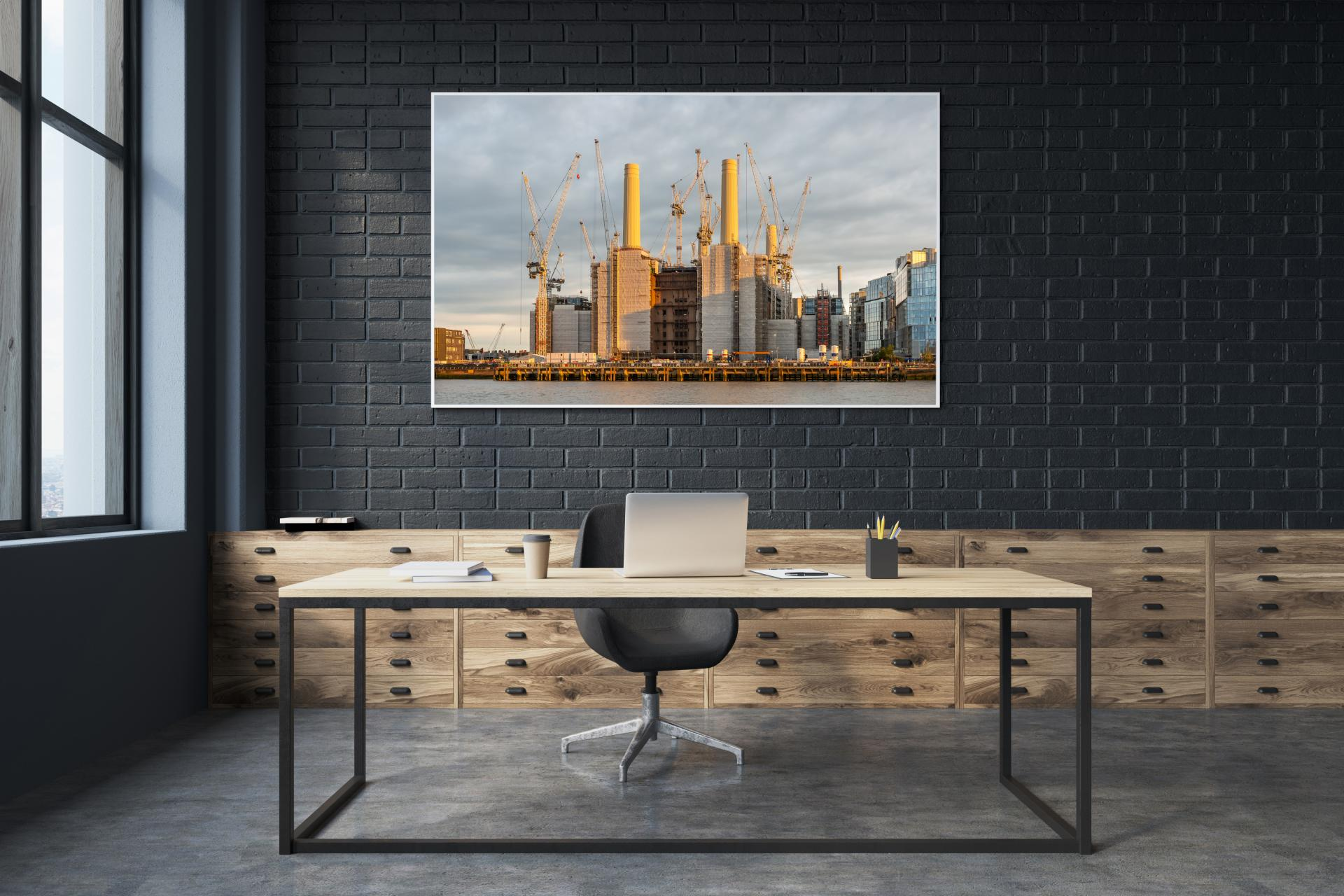 Battersea Power Station taken from bank opposite at sunset, Liane Ryan Interior/Architectural Photography