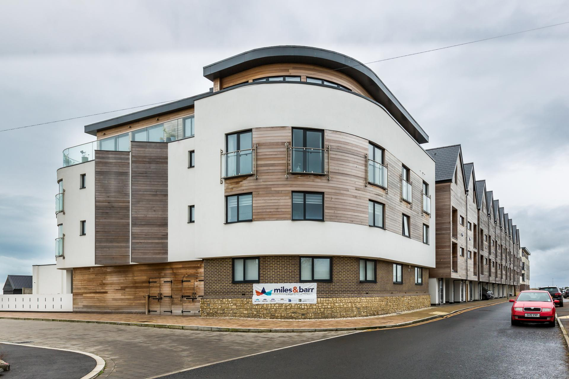 Exterior of new developement at Fishermans beach Essex,Liane Ryan Photography - Interior and Architectural Photographer in London and Essex