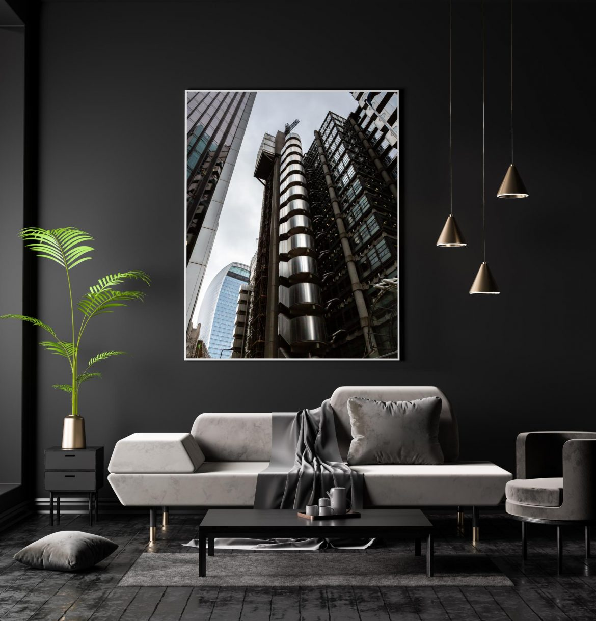 The Lloyds building London looking upwards with the walkie talkie building in the background.London Architectural Photographer, Liane Ryan Photography