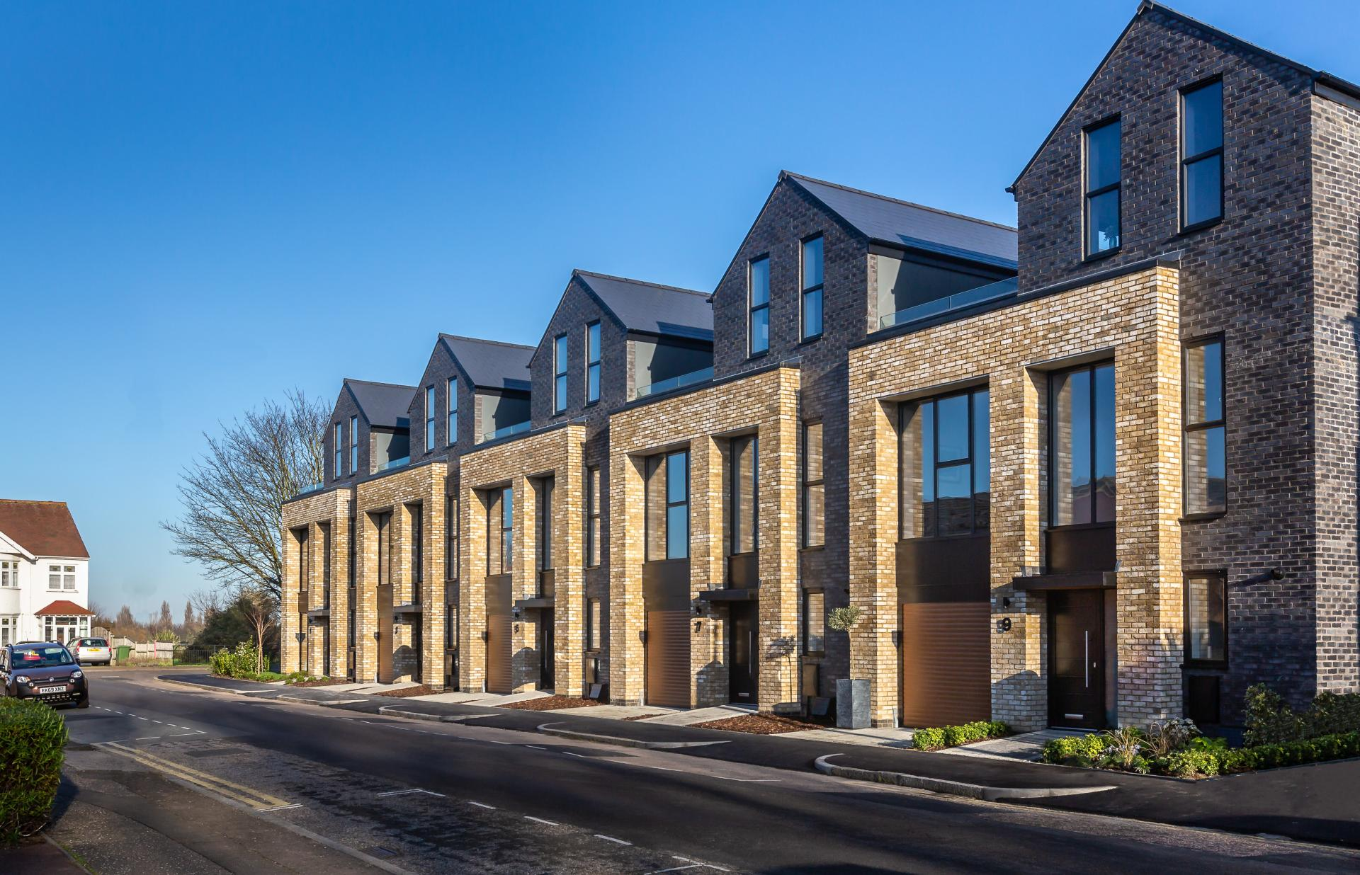 Exterior of new development near the coast -Liane Ryan Photography - Interior and Architectural Photographer in London and Essex