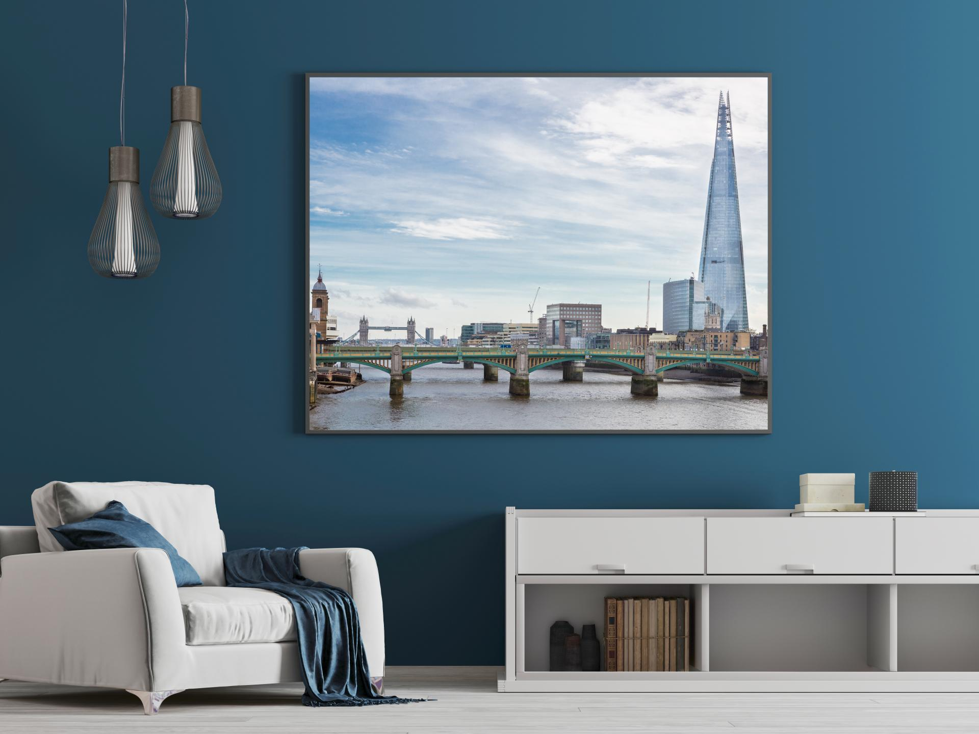 The Shard and the River Thames London taken from the Millenium Bridge.London Architectural Photographer, Liane Ryan Photography